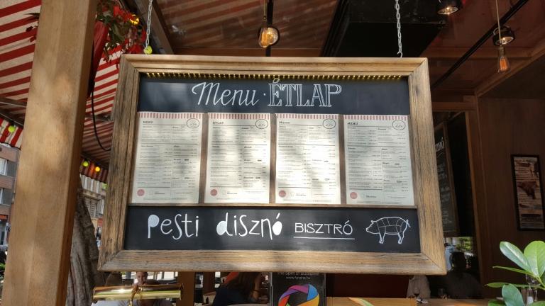Pesti Diszno Menu Budapest Hungary